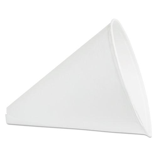 Paper Cone Funnels, 10 oz, White, 1000/Carton