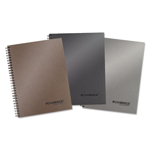 Cambridge® Limited Metallic Business Notebook Plus Pack, 9 1/2 x 7 1/4, Assorted, 80 Sheets, 3/Pack