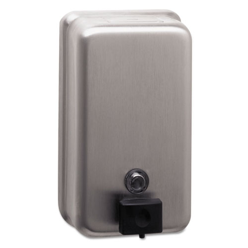 ClassicSeries Surface-Mounted Soap Dispenser, 40 oz, 4.75 x 3.5 x 8.13, Stainless Steel
