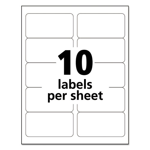 Ave95945 avery white shipping labels zuma for Maco laser and inkjet labels template