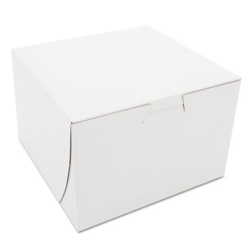 Non-Window Bakery Boxes, 6 x 6 x 4, White, 250/Bundle