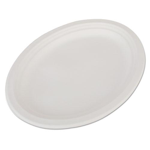 SCT® ChampWare Molded Fiber Platter, Oval, 12 1/2 x 10, White, 125/Pack, 4 Pk/Carton