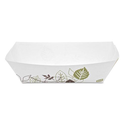 Dixie® Kant Leek Polycoated Paper Food Tray, Pathways,9 3/8x6 1/8x2 1/8, 250/Pk,2Pk/Ctn