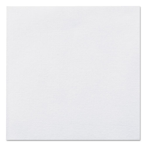 Linen-Like Beverage Napkins, 1-Ply, 10 x 10, White, 125/Pack, 8 Packs/Carton