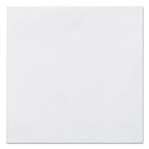Linen-Like Beverage Napkins, 1-Ply, 10 x 10, White, 125/Pack, 8 Packs/Carton