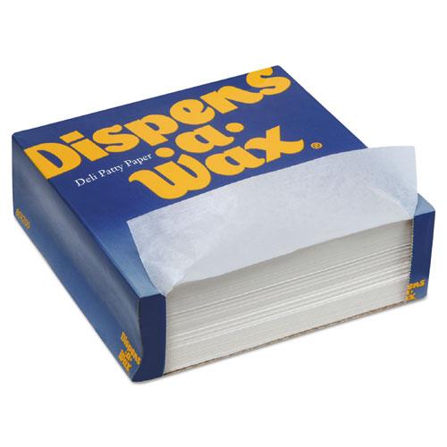 Dixie® Dispens-A-Wax Waxed Deli Patty Paper, 5 1/2 x 5 1/2, White, 1000/Box, 24Bx/Ctn