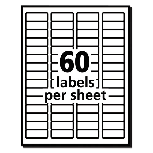 Easy peel mailing address labels laser 2 3 x 1 3 4 for Avery label templates 5195