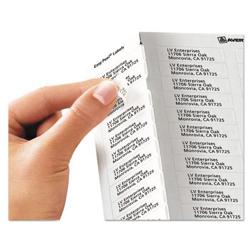 ave5667 avery clear easy peel return address labels