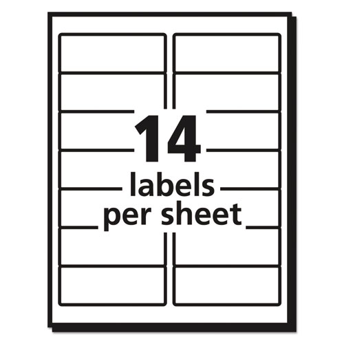 easy peel mailing address labels inkjet 1 1 3 x 4 white 350 pack