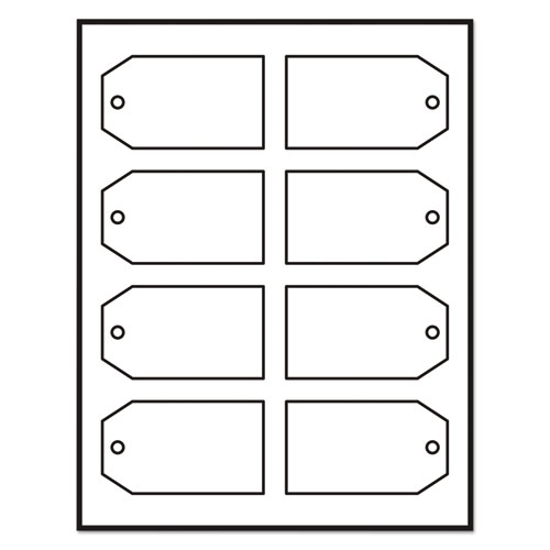 image regarding Printable Tags With Strings known as Printable Rectangular Tags with Strings, 2 x 3 1/2, White