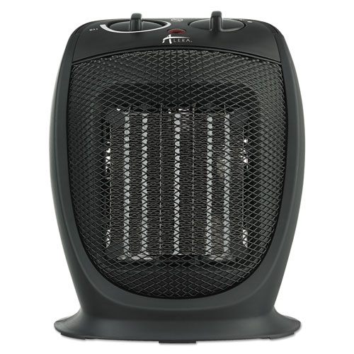 Ceramic Heater, 7 1/8w x 5 7/8d x 8 3/4h, Black