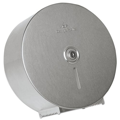 Stainless Steel Jumbo Roll Dispenser, 14.25 x 4.44 x 14.25, Stainless Steel