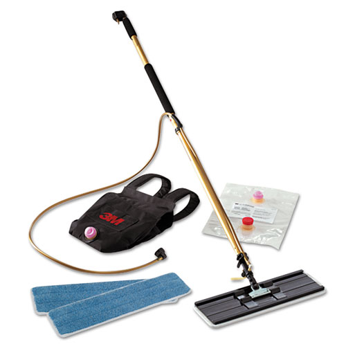 Easy Shine Applicator Kit w/Backpack, 18 Pad, 43 - 63 Handle, Gold/Black