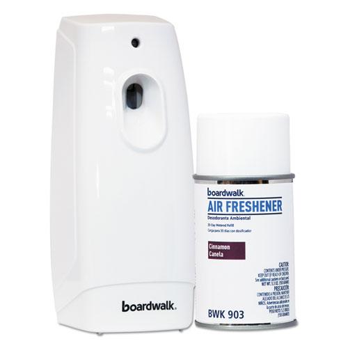 Boardwalk air freshener dispenser starter kit white for Bathroom air freshener