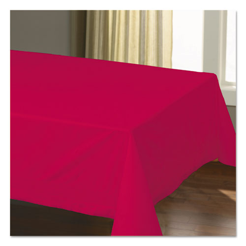 Cellutex Table Covers, Tissue/Polylined, 54 x 108, Red, 25/Carton