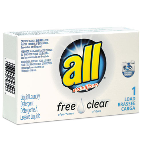 All® Free Clear HE Liquid Laundry Detergent, Unscented, 1.6 oz Vend-Box, 100/Carton