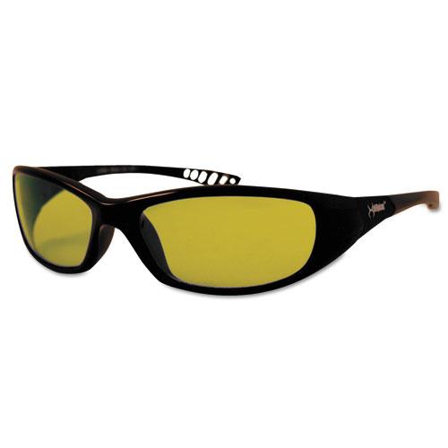 Jackson Safety* V40 HellRaiser Safety Glasses, Black Frame, Amber Lens