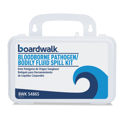 "Boardwalk® Bloodborne Pathogen Kit, 30 Pieces, 3"" x 8"" x 5"", White"