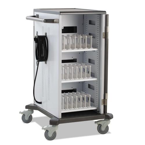 Ergotron® YES20 Charging Cart for Mini-Laptops, 48 x 32 x 34, Gray