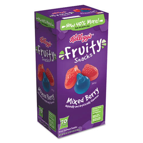 Fruity Snacks, Mixed Berry, 0 7 oz Bag, 70/Carton