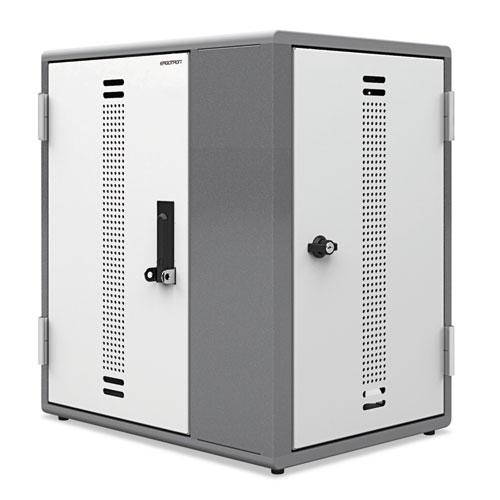 Ergotron® YES12 Charging Cabinet for Mini-Laptops, 29 x 22  x 27, Gray; White