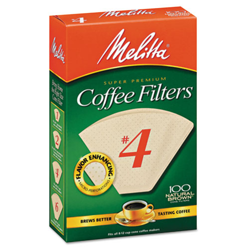 Coffee Filters, Natural Brown Paper, Cone Style, 8 to 12 Cups, 1200/Carton | by Plexsupply