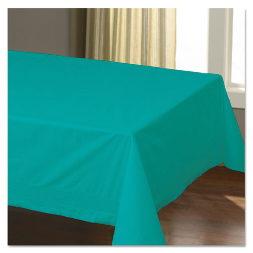 Cellutex Table Covers, Tissue/Polylined, 54 x 108, Teal, 25/Carton