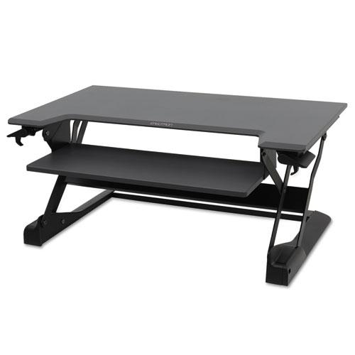 WorkFit-TL Sit-Stand Desktop Workstation, 37.5 x 25 x 20, Black