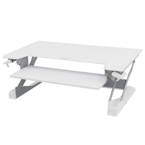 WorkFit-TL Sit-Stand Desktop Workstation, 37.5 x 25 x 20, White
