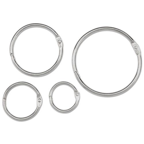 """ACCO Metal Book Rings, 3/4"""" Diameter, 100 Rings/Box"""