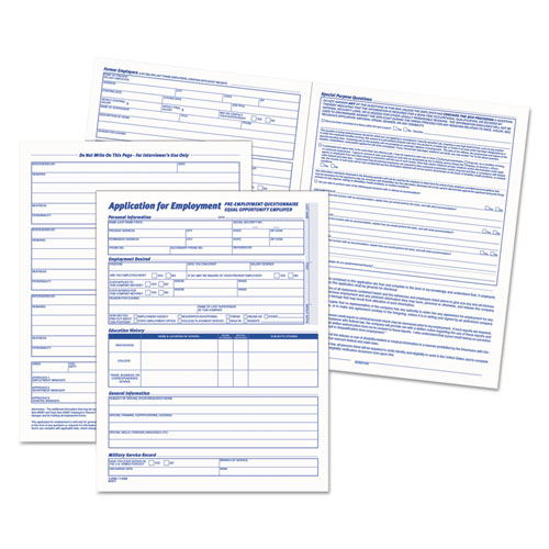 Comprehensive Employee Application Form   X   Forms