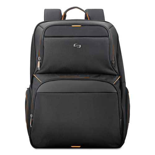 "Urban Backpack, 17.3"", 12 1/2"" x 8 1/2"" x 18 1/2"", Black | by Plexsupply"