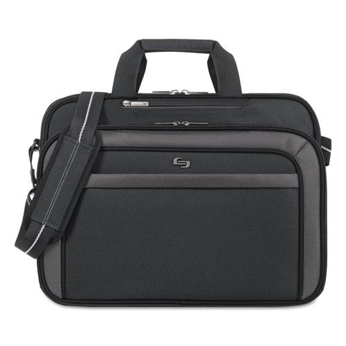 """Solo Pro CheckFast Briefcase, 17.3"""", 17"""" x 5 1/2"""" x 13 3/4"""", Black"""