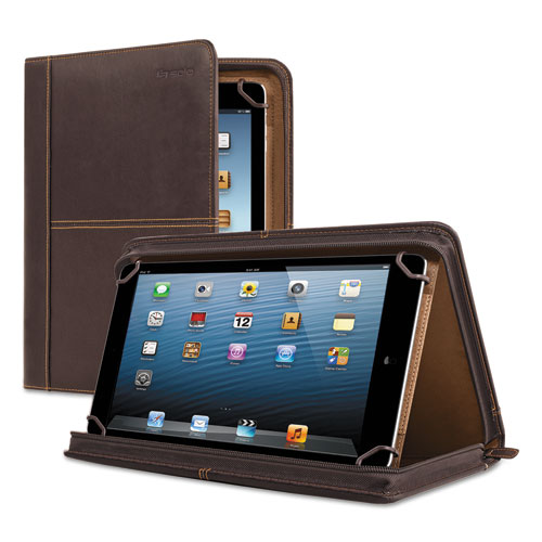 """Premiere Leather Universal Tablet Case, Fits Tablets 8.5"""" up to 11"""", Espresso 