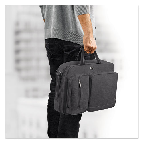 "Urban Hybrid Briefcase, 15.6"", 16 3/4"" x 4"" x 12"", Gray | by Plexsupply"
