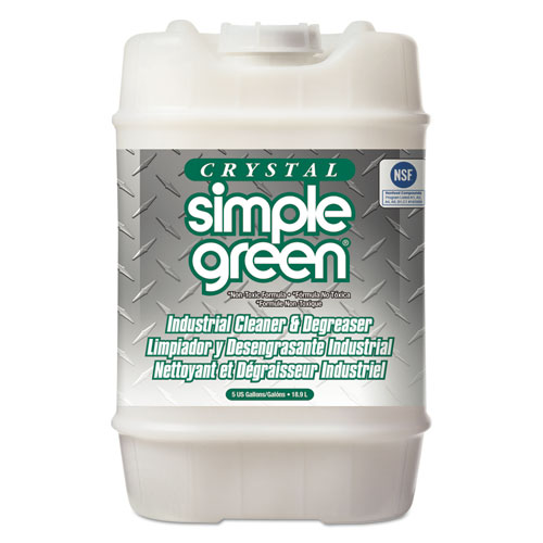 Simple Green® Crystal Industrial Cleaner/Degreaser, 5 gal Pail