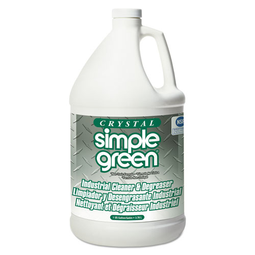 Simple Green® Crystal Industrial Cleaner/Degreaser, 1 gal Bottle, 6/Carton