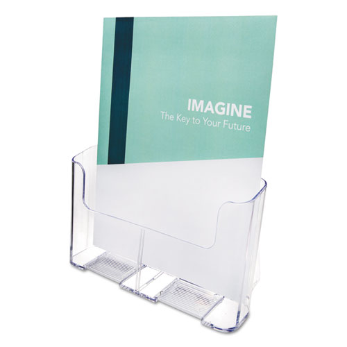 DocuHolder for Countertop/Wall-Mount, Magazine, 9 1/4 x 10 3/4 x 3 3/4, Clear