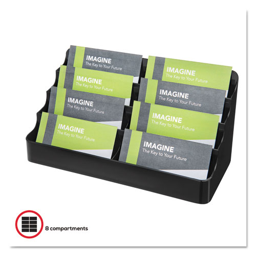 DEF90804 deflecto® Recycled Business Card Holder