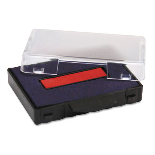 T5440 Dater Replacement Ink Pad, 1 1/8 x 2, Blue/Red | by Plexsupply