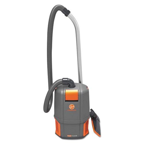 HushTone Backpack Vacuum Cleaner, 11.7 lb., Gray/Orange