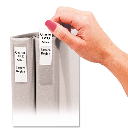 C-Line 70013 Self-Adhesive Ring Binder Label Holders, Top