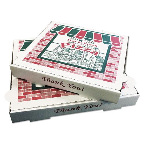 Pizza Boxes, Kraft, 8 x 8, White, 50/Carton