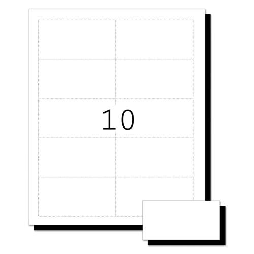 printable microperf business cards inkjet 2 x 3 1 2 white matte 250 pack. Black Bedroom Furniture Sets. Home Design Ideas