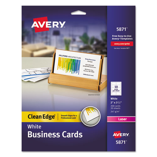 Clean edge business cards laser 2 x 3 12 white 200pack clean edge business cards laser 2 x 3 12 white reheart Gallery