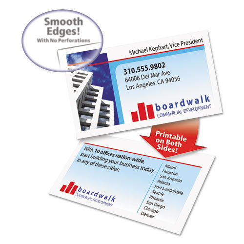 Clean edge business cards laser 2 x 3 12 white 200pack log in to see price quantity colourmoves