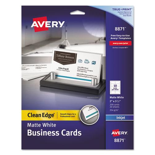 True print clean edge business cards inkjet 2 x 3 12 white 200 true print clean edge business cards inkjet 2 x 3 12 reheart Gallery