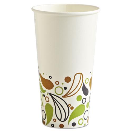 Deerfield Printed Paper Cold Cups, 20 oz, 50 Cups/Pack, 20 Packs/Carton DEER20CCUP