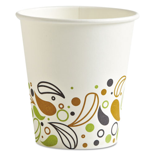 Deerfield Printed Paper Hot Cups, 10 oz, 50 Cups/Pack, 20 Packs/Carton DEER10HCUP
