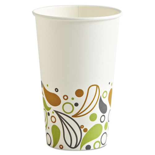 Deerfield Printed Paper Hot Cups, 16 oz, 50 Cups/Pack, 20 Packs/Carton DEER16HCUP